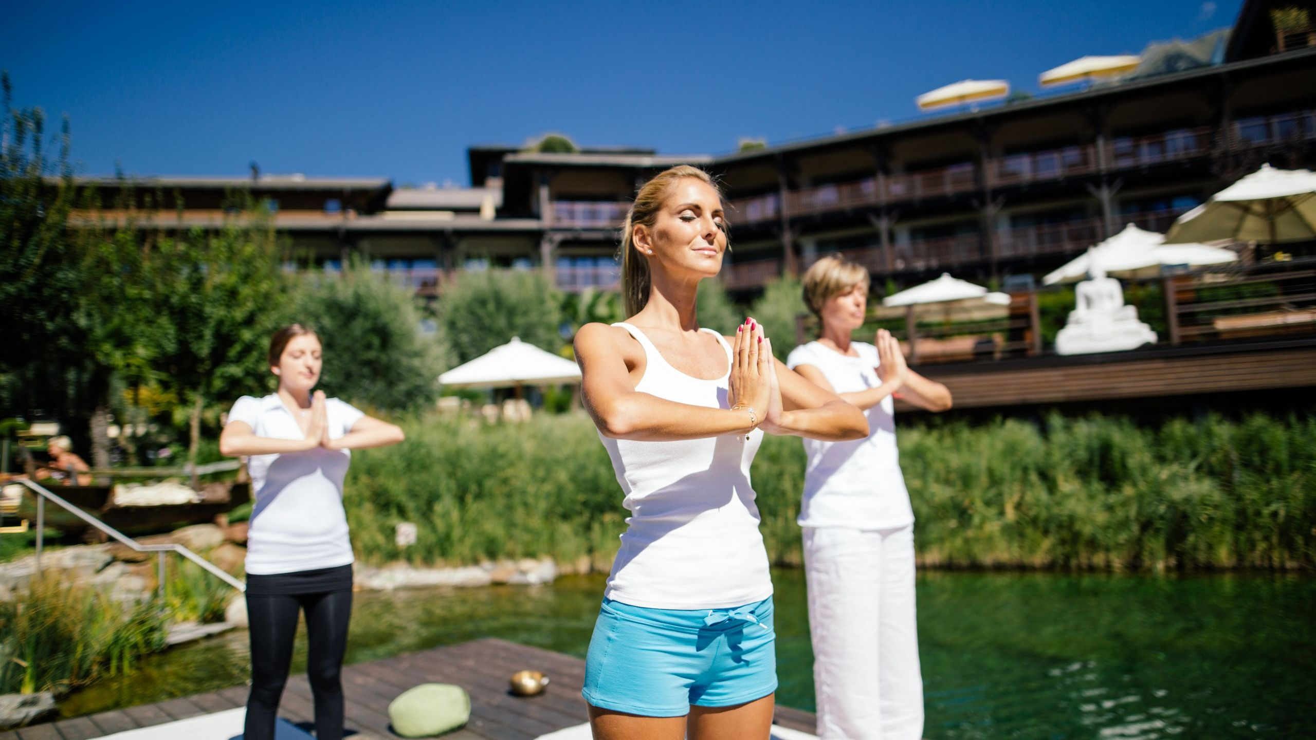 Outdoor Yoga im Yogahotel Südtirol Andreus Resort